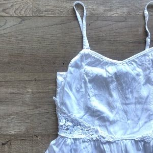 H&M White Lace Accent Sundress